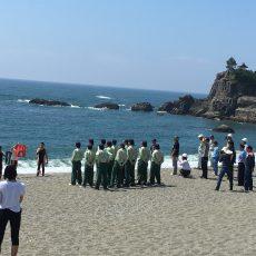 桂浜海中転落者救助訓練に参加しました。