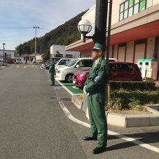 いの町内 年末量販店様駐車場警備。
